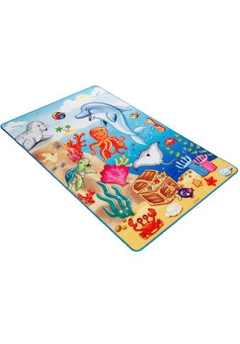 Böing Carpet Kinderteppich »Lovely Kids LK-7«, rechteckig, 2 mm Höhe, Motiv Ozean kaufen