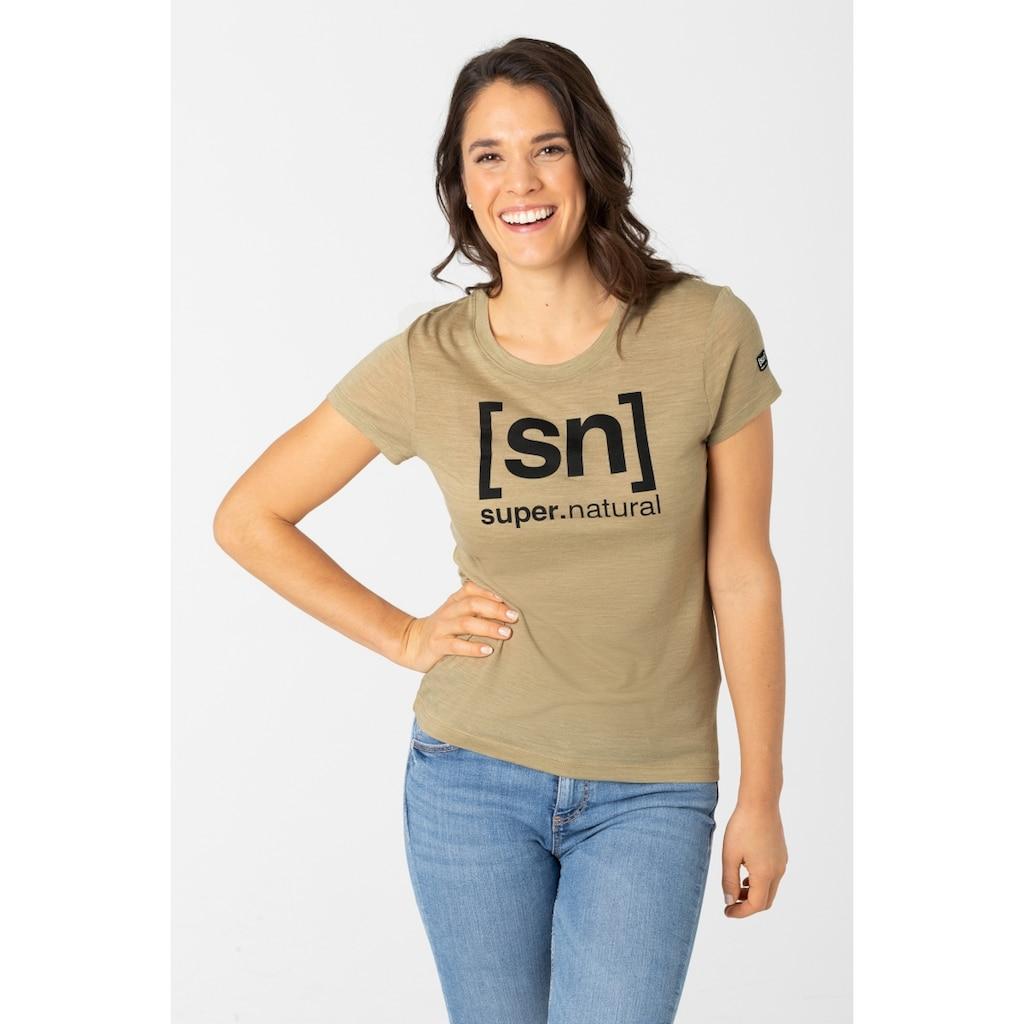 SUPER.NATURAL T-Shirt »W ESSENTIAL I.D. TEE«, feinster Merino-Materialmix