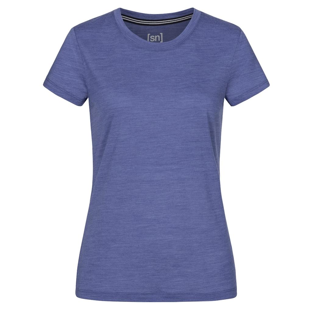 SUPER.NATURAL T-Shirt »W ESSENTIAL TEE«, optimaler Merino-Materialmix