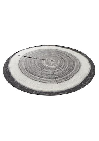 HANSE Home Teppich »Baumstamm«, rund, 6 mm Höhe, Kurzflor, gekettelt, Wohnzimmer kaufen