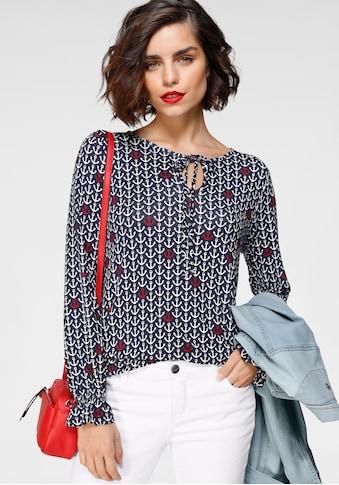 Tamaris Langarmshirt, mit Raffungsdetails kaufen