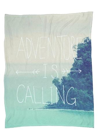 Wohndecke »Adventure is Calling«, Juniqe kaufen