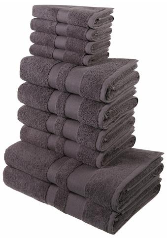 my home Handtuch Set »Ada«, mit abgesetzter Bordüre kaufen