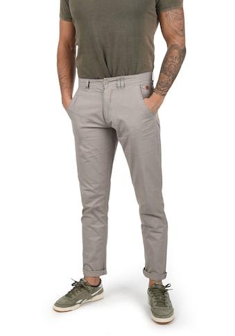 Blend Chinohose »Tromp«, lange Hose mit Lederapplikationen an der Tasche kaufen