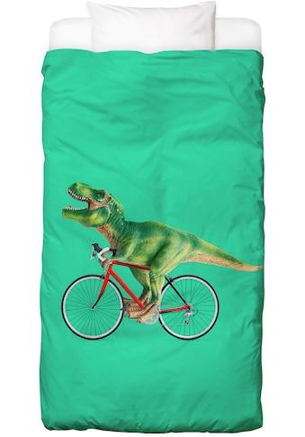 Juniqe Bettwäsche »T-Rex Bike«, In vielen weiteren Designs erhältlich kaufen