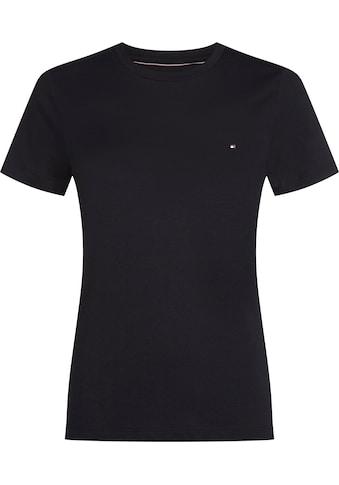 Tommy Hilfiger T-Shirt »HERITAGE CREW NECK TEE«, mit Tommy Hilfiger Logo-Flag auf der... kaufen