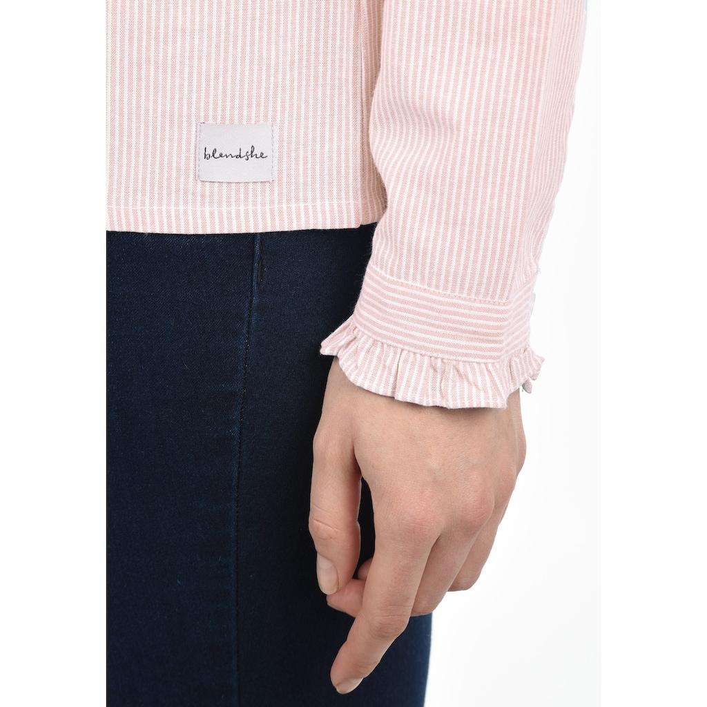 Blendshe Langarmbluse »Stella«, Bluse mit Frill-Kragen