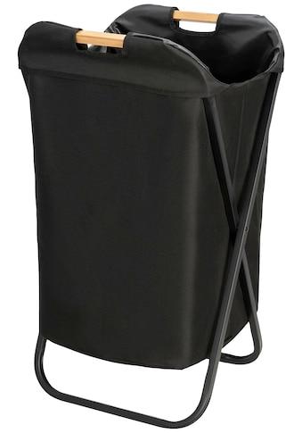 WENKO Wäschekorb »Loft«, klappbar, schwarz kaufen