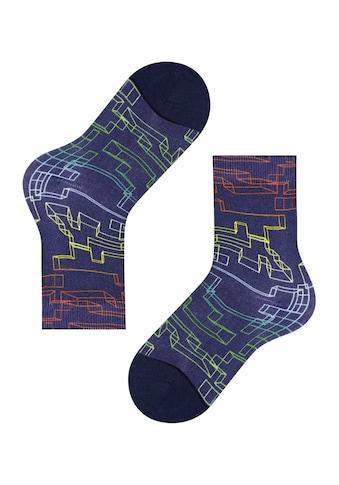FALKE Socken »Neon Squares«, (1 Paar), aus hautfreundlicher Baumwolle kaufen