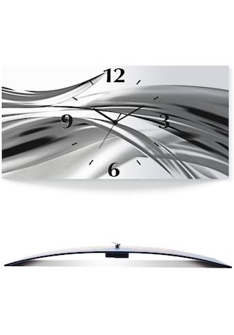 Artland Wanduhr »Schöne Welle - Abstrakt«, 3D Optik gebogen, silberfarben-metallic kaufen