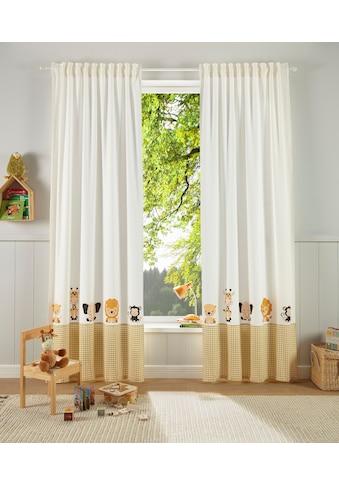 Lüttenhütt Gardine »Tiere«, bedruckte Kindergardine kaufen
