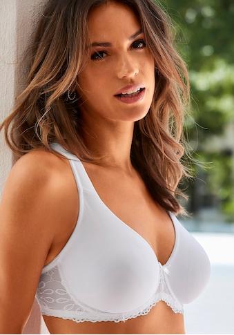 LASCANA T-Shirt-BH »perfect basic«, mit blumiger Spitze kaufen