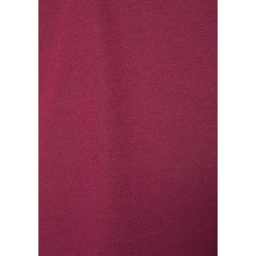 LASCANA Nachthemd, mit Spitzendetail und halblangen Ärmeln