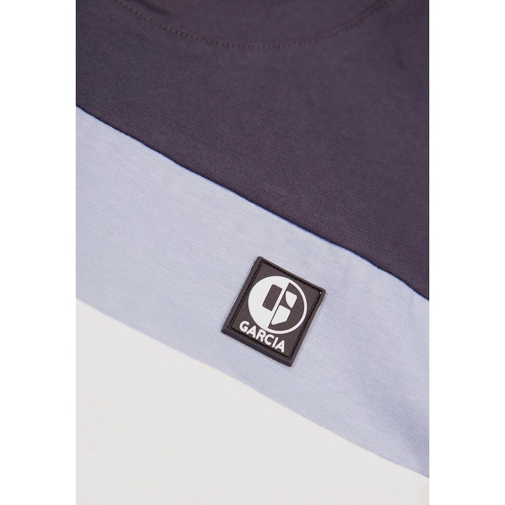 Garcia T-Shirt »mit farbigen Streifen«