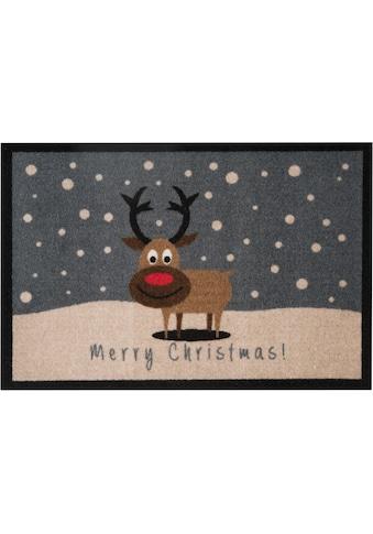 HANSE Home Fussmatte »ChristmasReindeer«, rechteckig, 7 mm Höhe, Schmutzfangmatte, mit... kaufen