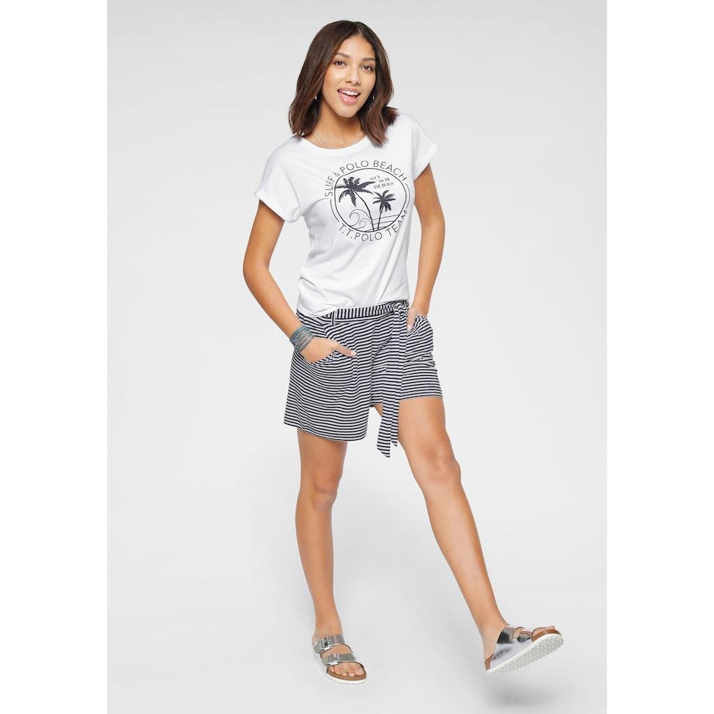 TOM TAILOR Polo Team T-Shirt, mit verschiedenen sommerlichem Dessins