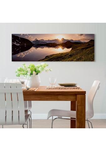 Reinders! Holzbild »Deco Panel 52x156 Mountain Evening Sunset« kaufen