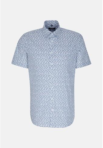 seidensticker Businesshemd »Shaped«, Shaped Kurzarm Covered-Button-Down-Kragen Druck kaufen