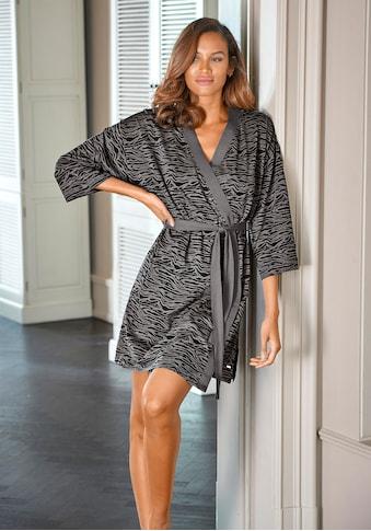s.Oliver Bodywear Kimono, aus weich fliessendem Baumwollmix kaufen