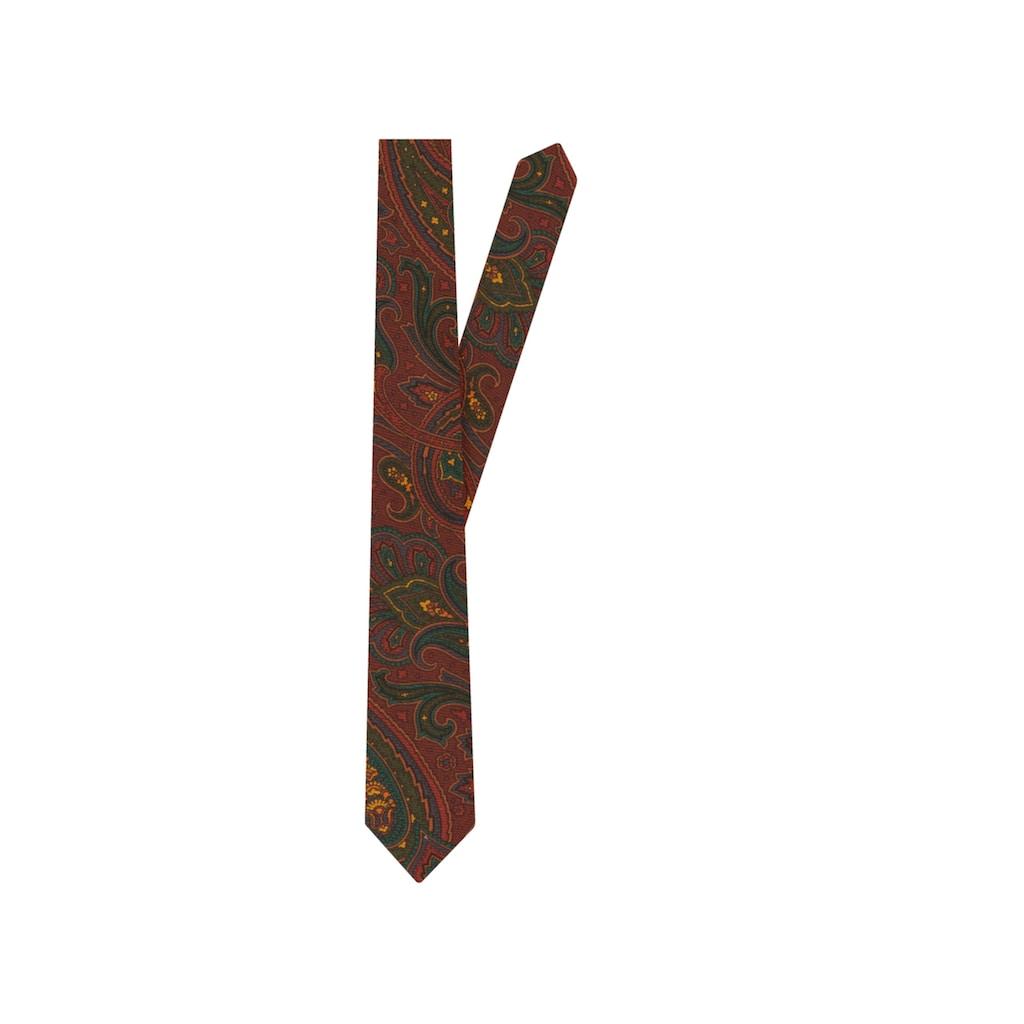 seidensticker Krawatte »Schwarze Rose«, Breit (7cm) Paisley