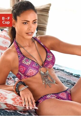 Buffalo Bügel-Bikini, im Alloverdruck und kontrastfarbiger Häkelkante kaufen