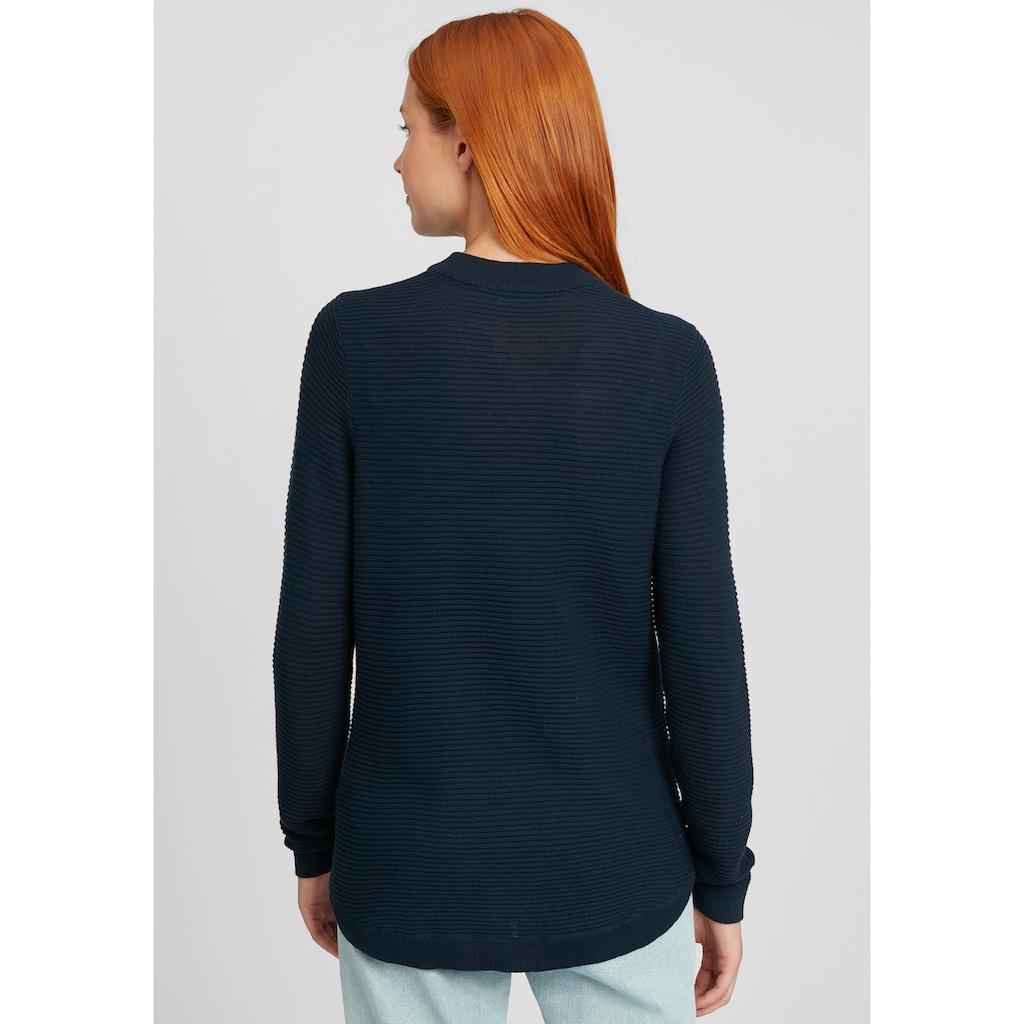 fransa Strickpullover »FXTONE 2«, Pullover in Fein-Strick Optik