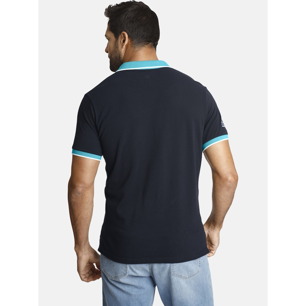 Jan Vanderstorm Poloshirt »IWAR«, luftiges Pikee, Comfort Fit