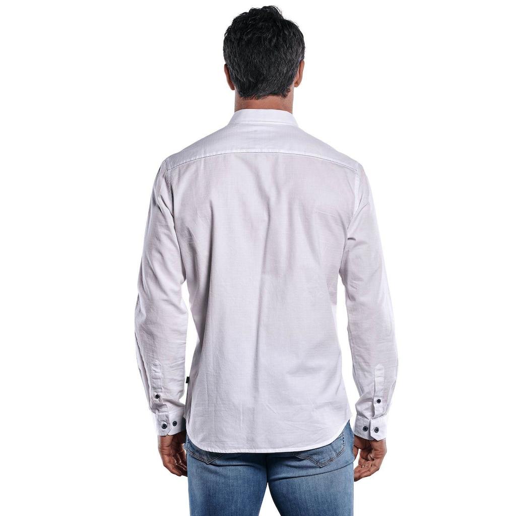 Engbers Unifarbenes Langarmhemd mit modischen Designdetails