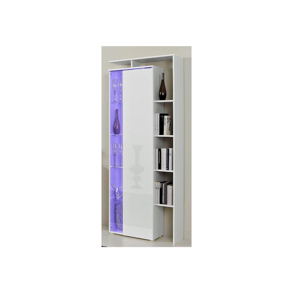 borchardt Möbel Standvitrine, mit seitlichem Regal, Höhe 189 cm