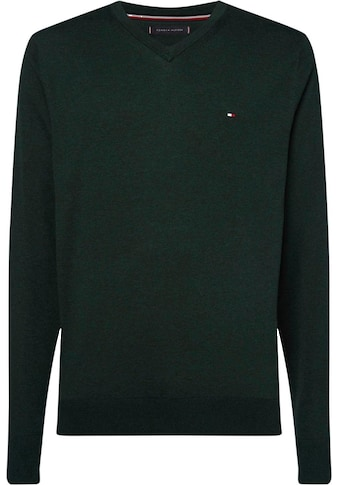 TOMMY HILFIGER V - Ausschnitt - Pullover »ORGANIC COTTON SILK V NECK« kaufen