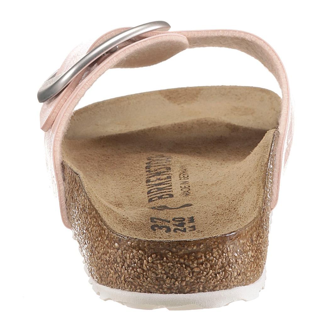 Birkenstock Pantolette »Madrid«, mit auffälliger Schnalle, schmale Schuhweite