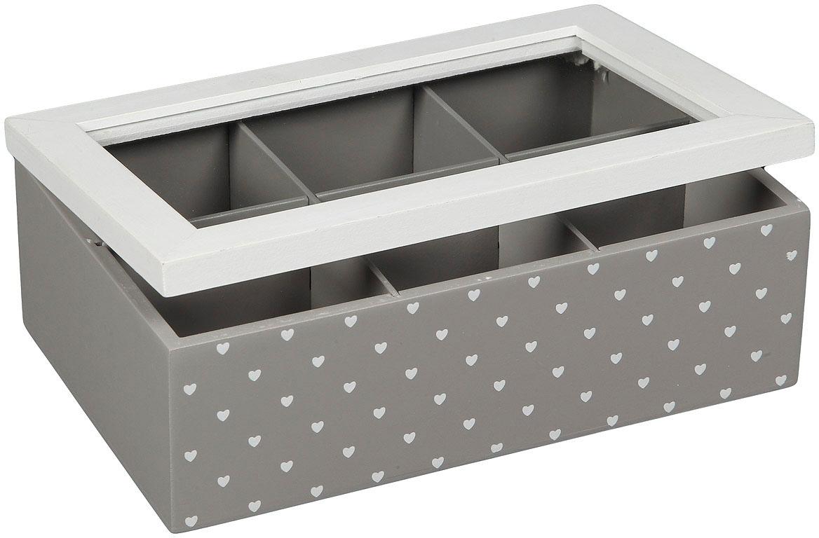 Image of Ambiente Haus Aufbewahrungsbox »Teekästchen - grau 23cm«, (1 St.)