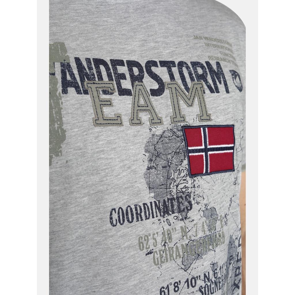 Jan Vanderstorm T-Shirt »SÖLVE«, robuster Baumwolljersey