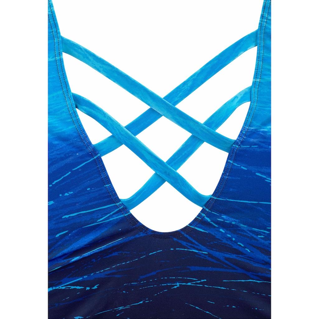 LASCANA Badeanzug, mit Batikprint