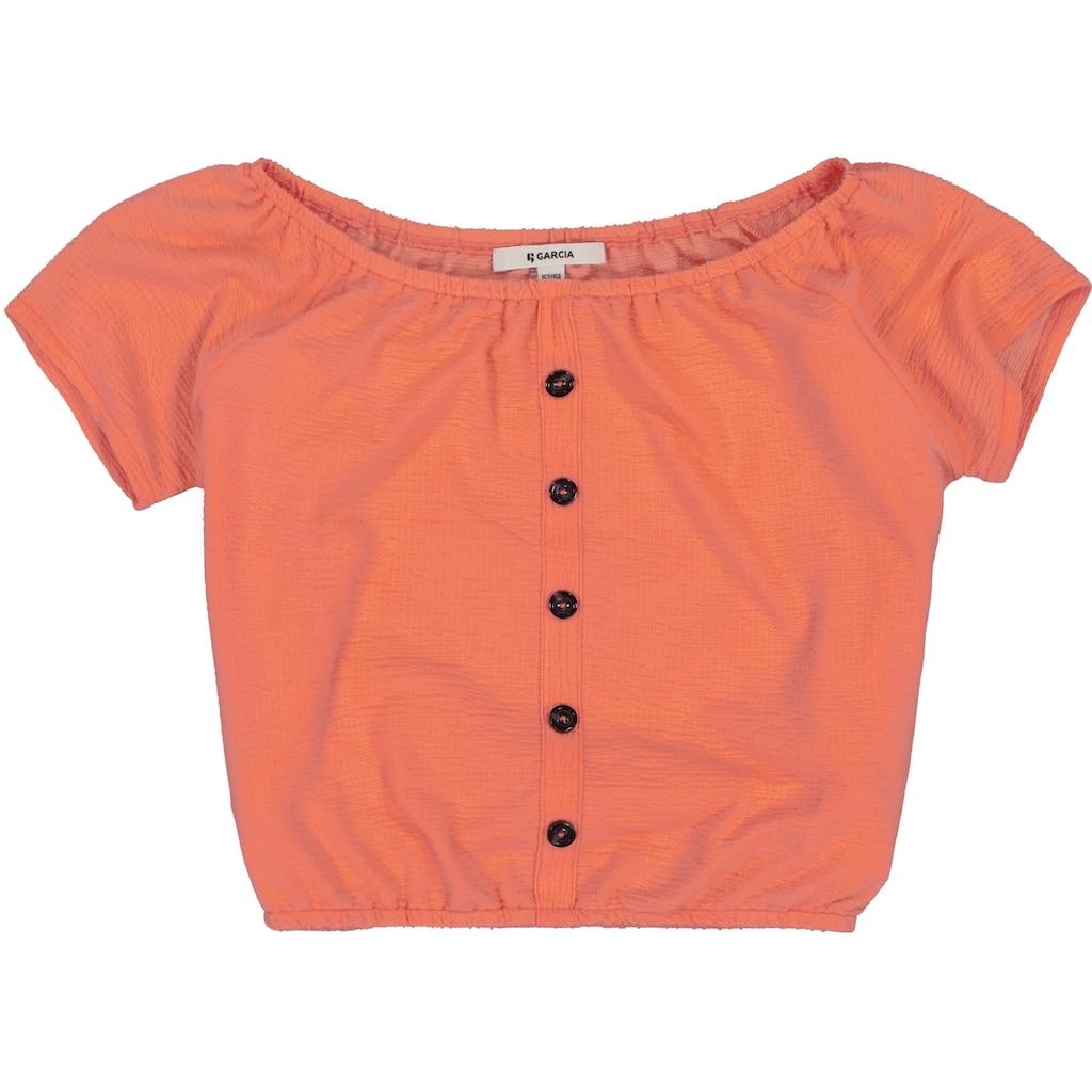 Garcia T-Shirt, mit grossem elastischem Ausschnitt