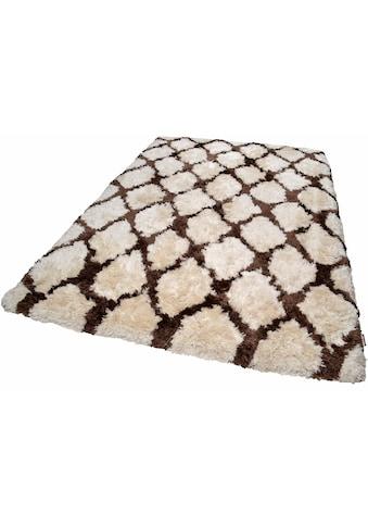 TOM TAILOR Hochflor-Teppich »Flocatic Pattern«, rechteckig, 65 mm Höhe, Rautenmuster,... kaufen