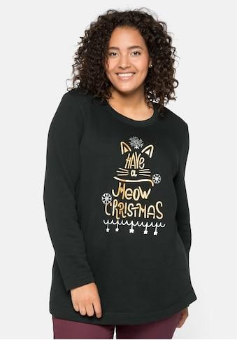 Sheego Sweatshirt, mit Weihnachtsmotiv kaufen