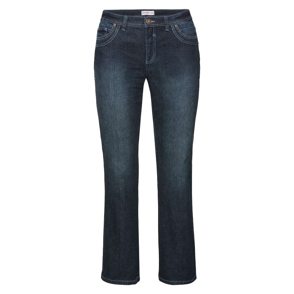 Sheego Stretch-Jeans, MAILA in Bootcut-Form