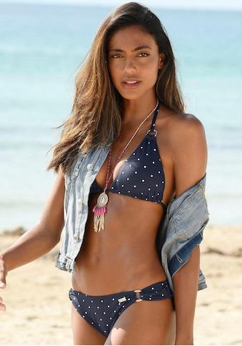 LASCANA Triangel-Bikini-Top »Sparkel«, mit goldfarbenen Ringen kaufen