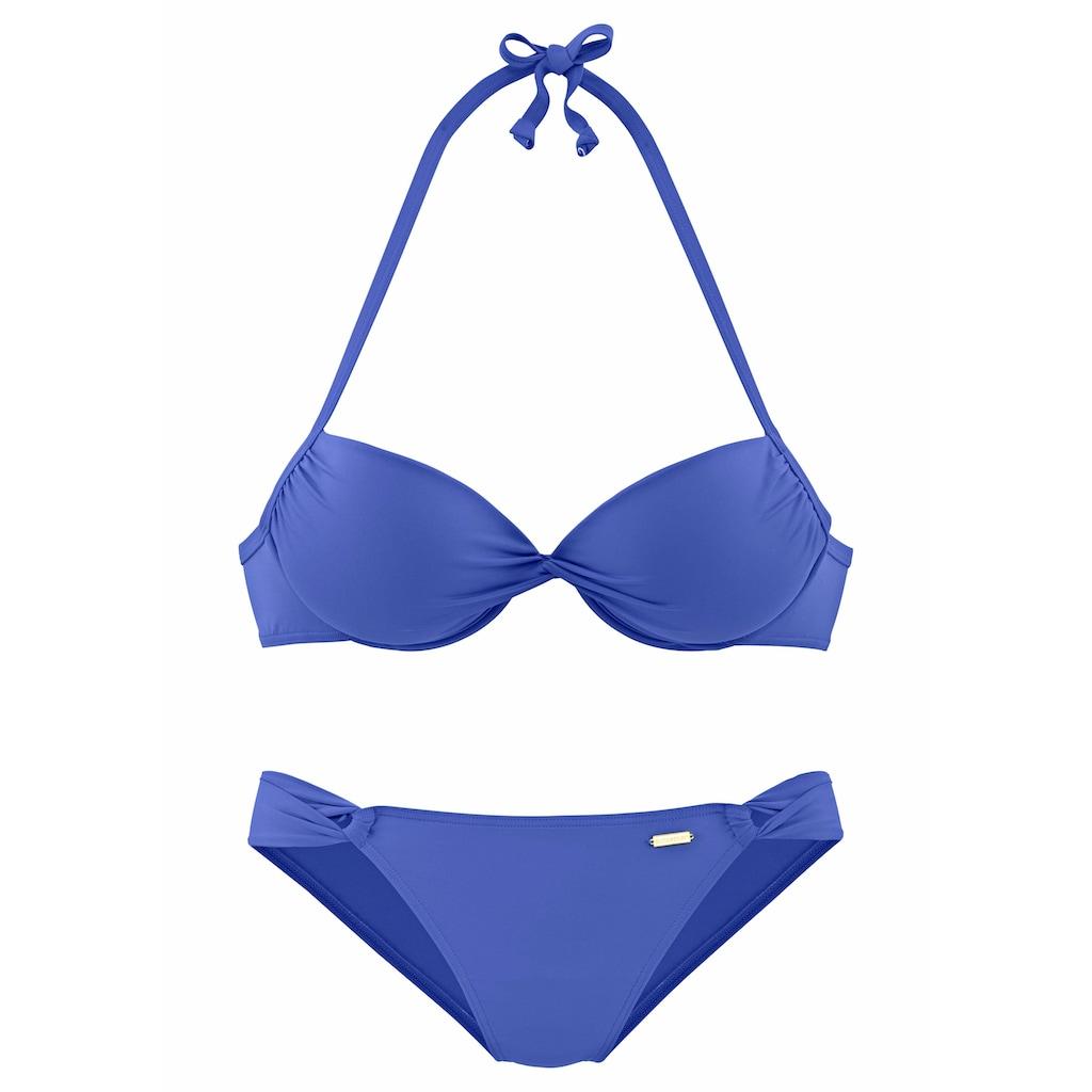 Sunseeker Push-Up-Bikini »Miami«, in geknoteter Optik