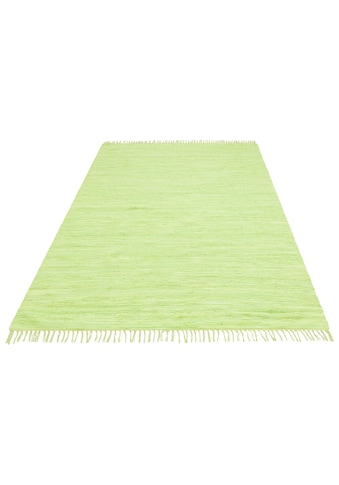 my home Teppich »Ares«, rechteckig, 5 mm Höhe, handgewebt, mit Fransen, Wohnzimmer kaufen