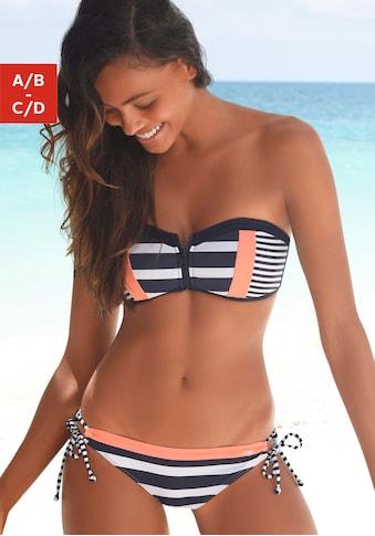 KangaROOS Bandeau-Bikini-Top »Anita«, mit Reissverschluss zwischen den Cups kaufen