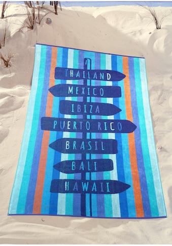 Strandtuch »Wegweiser«, (1 St.) kaufen