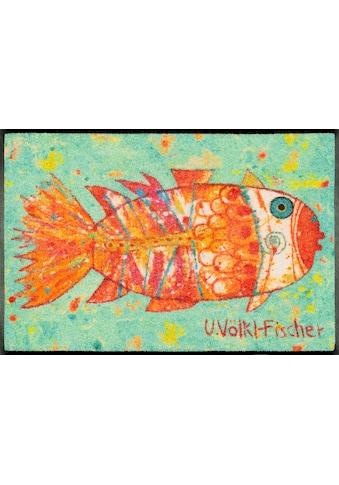 wash+dry by Kleen-Tex Fussmatte »Funky Fish«, rechteckig, 7 mm Höhe, Schmutzfangmatte,... kaufen