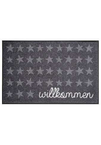 wash+dry by Kleen-Tex Fussmatte »Willkommen Sterne«, rechteckig, 7 mm Höhe,... kaufen