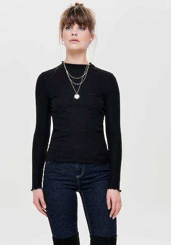 Only Langarmshirt »ONLEMMA«, mit süssem Stehkragen kaufen