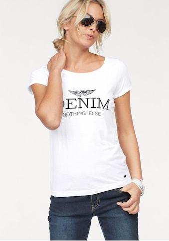 """Arizona Print-Shirt, mit grossem """"Denim"""" Statement Druck kaufen"""