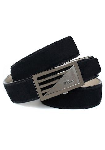 Anthoni Crown Ledergürtel, mit glänzender Schliesse, Wildleder-Optik kaufen