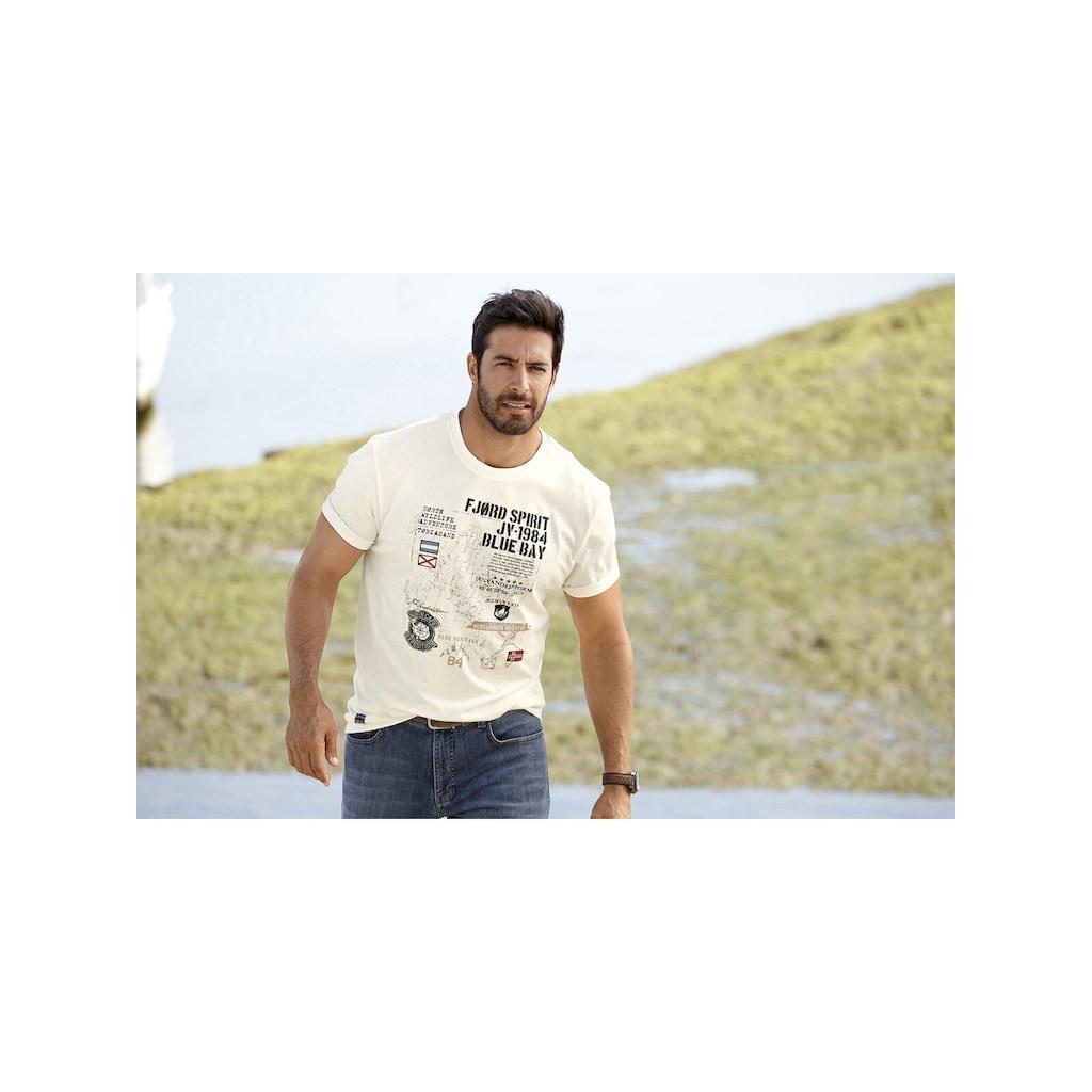 Jan Vanderstorm T-Shirt »VALTERI«, weiches Baumwollshirt