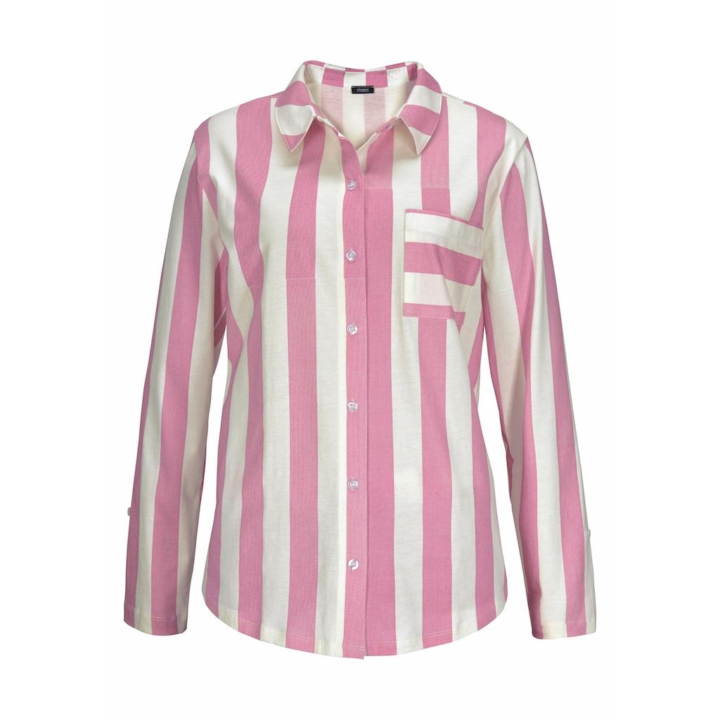 Vivance Dreams Pyjama, im Hemdblusenlook